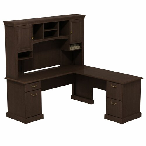syndicate l shape office desk with hutch by bush business furniture