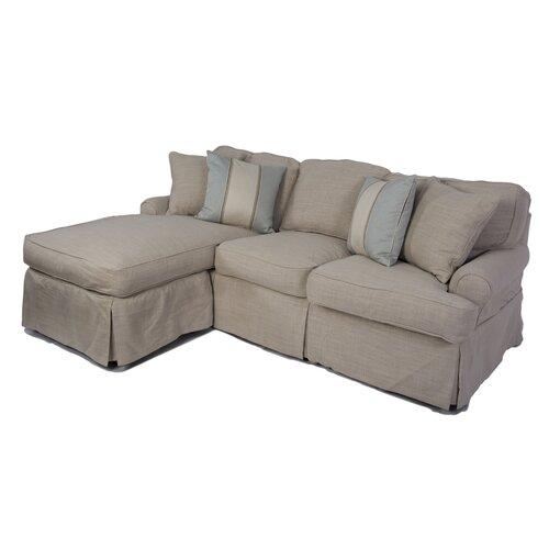horizon sofa and chaise t cushion slipcover set wayfair