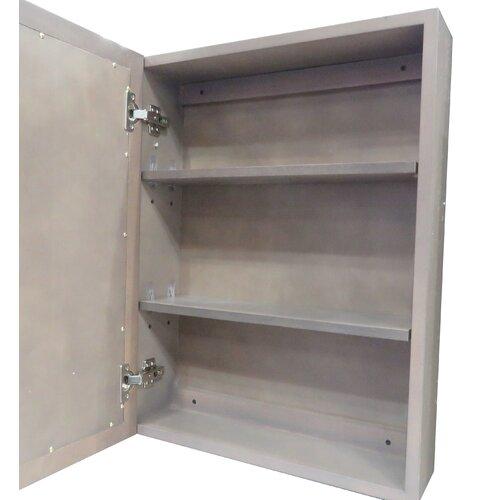 Aiden 20 x 26 surface mount medicine cabinet wayfair for Bathroom medicine cabinets 14 x 18