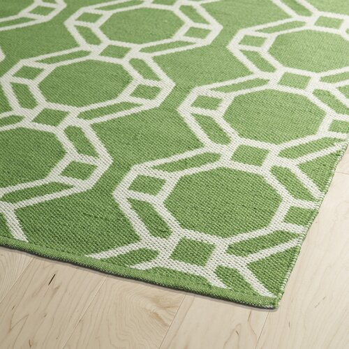 Kaleen brisa lime green cream indoor outdoor area rug for Green and cream rugs