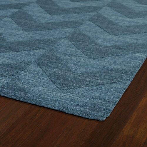Imprints Modern Turquoise Geometric Area Rug