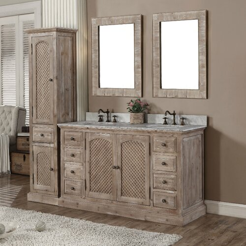 wk series 61 quot bathroom vanity set with linen tower
