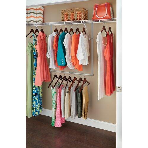 closetmaid double hang closet rod reviews wayfair. Black Bedroom Furniture Sets. Home Design Ideas
