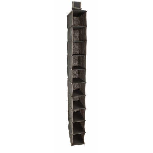 10 shelf hanging closet organizer wayfair. Black Bedroom Furniture Sets. Home Design Ideas