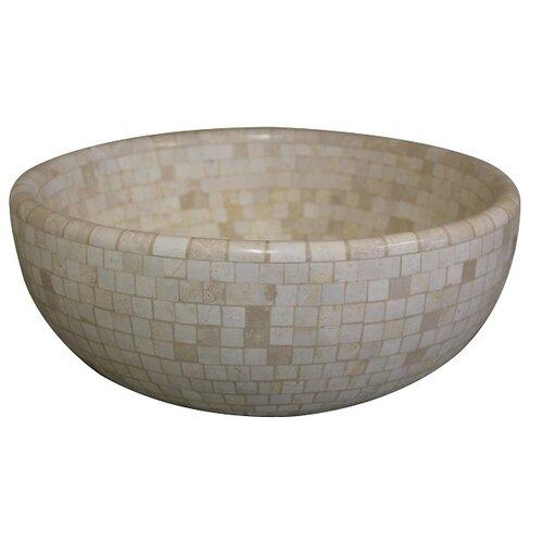 Mosaic Vessel Sink : Mosaic Natural Stone Vessel Bathroom Sink by TashMart