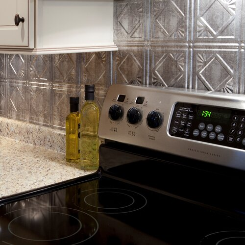 25 x pvc backsplash panel in crosshatch silver kit by