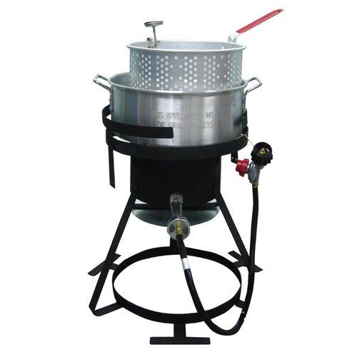 Outdoor cooker fish fryer package wayfair for Outdoor fish fryer