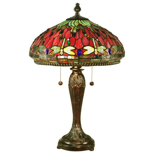 dale tiffany dragonfly 25 h table lamp with bowl shade reviews. Black Bedroom Furniture Sets. Home Design Ideas