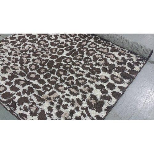 Zebra Rug Wayfair: Persian-rugs Tobis Modern Shag Leopard Area Rug & Reviews