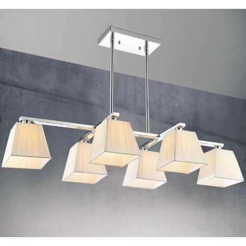 6 Light Kitchen Island Pendant