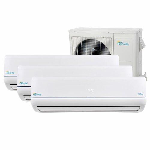 Aura dual zone 36000 btu energy star air conditioner with for 18000 btu window ac units