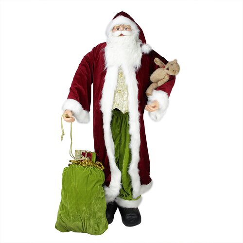 Standing life size decorative christmas santa claus figure