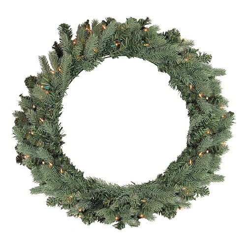 48 Artificial Crystal Spruce Christmas Wreath by Vickerman