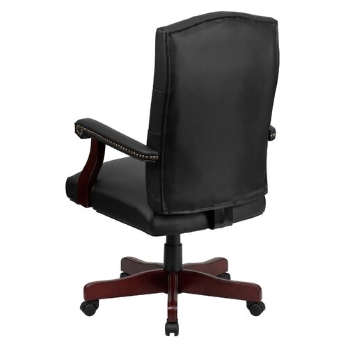 Shop Casual Dining Brown Cushion Swivel And Tilt Rolling: Alcott Hill Kirkland Leather Office Swivel Chair & Reviews
