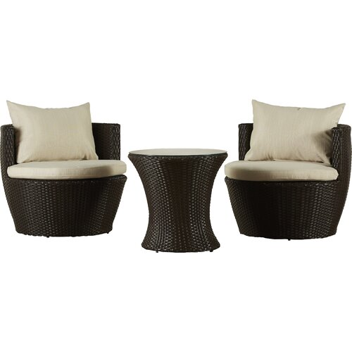 Varick Gallery Ellington Circle 3 Piece Seating Group With