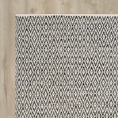 Shevchenko Place Hand-Woven Ivory / Dark Grey Area Rug by Varick Gallery