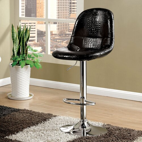 Wade Logan Timothy Adjustable Height Swivel Bar Stool With