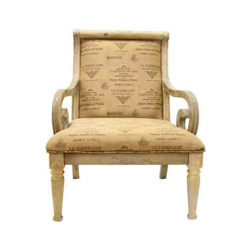 Rustic living room arm chair by bestmasterfurniture