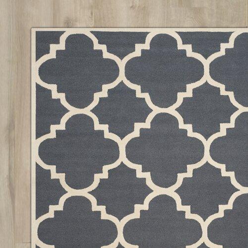 Bron Hand-Tufted Dark Grey/Ivory Area Rug by Lark Manor