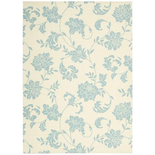 Nourison Home & Garden Ivory/Blue Indoor/Outdoor Area Rug & Reviews ...