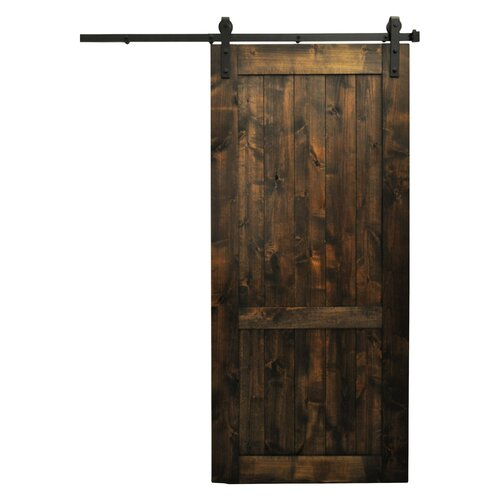 August grove country vintage barn door without hardware for Barn doors and hardware reviews