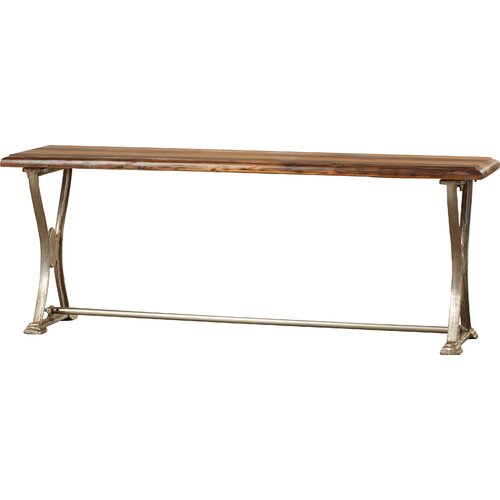 Foyer Bench Xbox One : One allium way wood and metal entryway bench reviews