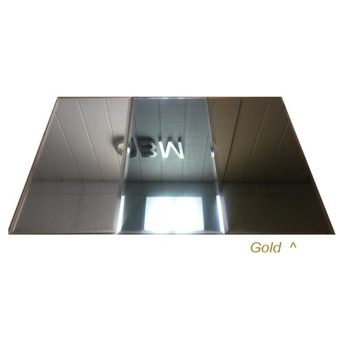Reflections 12 X 24 Mirror Glass Mosaic Tile In Gold