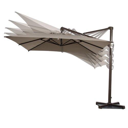 10 deluxe square offset cantilever umbrella wayfair