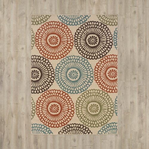 Bungalow Rose Douane Hand-Woven Beige/Blue Area Rug