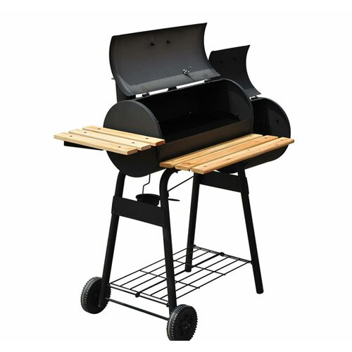 outsunny 48 backyard charcoal grill with wheels reviews