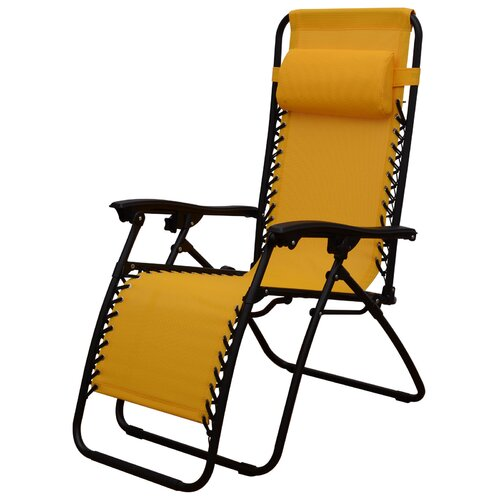 Outsunny zero gravity chaise lounge with cushion reviews for Chaise zero gravite