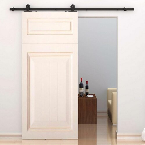 homcom interior sliding barn door kit hardware set reviews wayfair