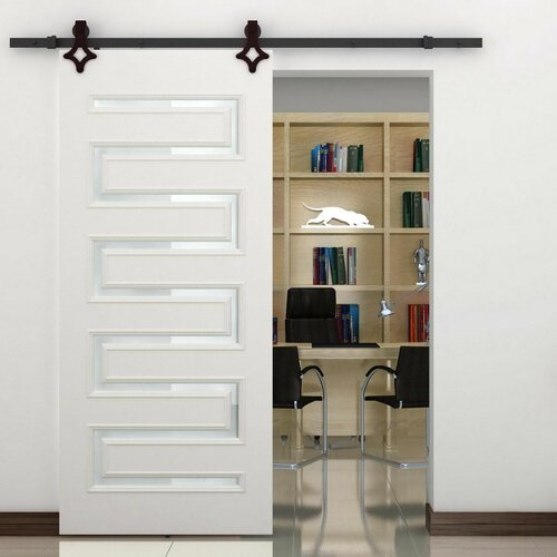 homcom interior sliding barn door kit hardware set reviews wayfair
