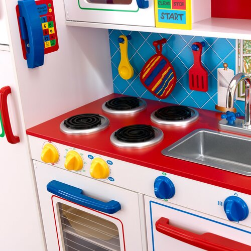 Kidkraft Deluxe Let S Cook Kitchen Amp Reviews Wayfair