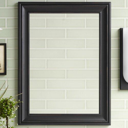 Traditional 24 X 32 Solid Wood Framed Bathroom Mirror In