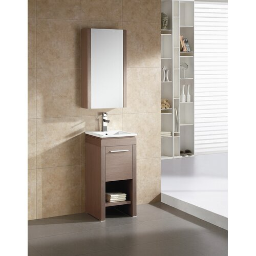 Modena 16 Quot Single Vanity Set With Mirror Wayfair
