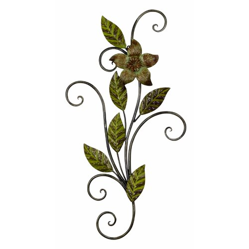 Wrought Iron Wall Decor Flowers : Adecotrading decorative round flower starburst iron widget