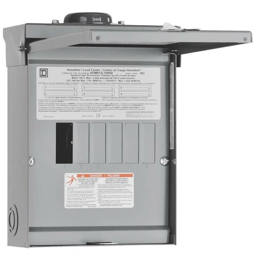 100 Amp Manual Transfer Switch with Main Lug Load Center by Square D