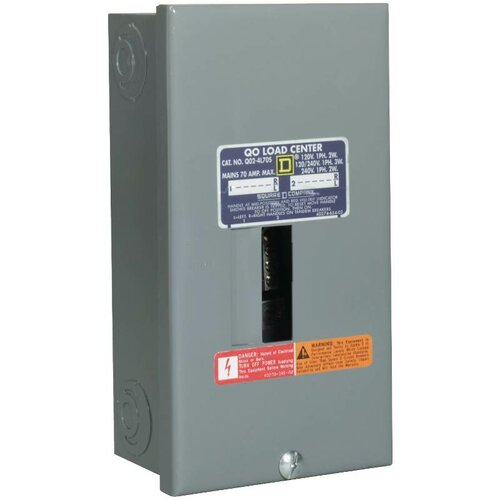 70 Amp Manual Transfer Switch with Surf Mount Load Center by Square D