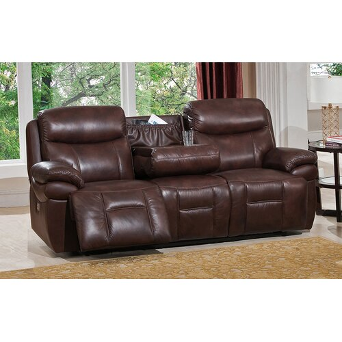 sanford 2 piece leather power reclining living room set with power