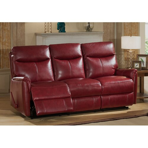 Grain Leather Sofa: Napa Top Grain Leather Lay Flat Reclining Sofa And