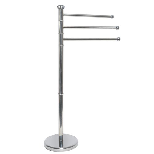 Freestanding 3 swiveling arms towel stand wayfair - Porte serviette sur pieds ...