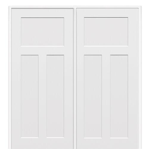 Craftsman Mdf 3 Panel Primed Interior Door Wayfair
