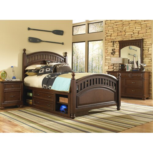 Expedition Storage Four Poster Customizable Bedroom Set