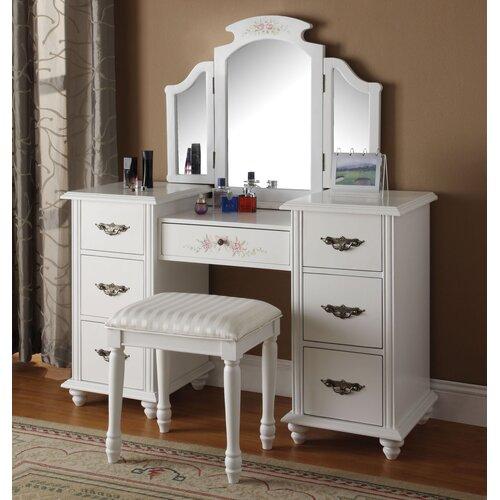 Makeup Vanity Set With Mirror Wayfair
