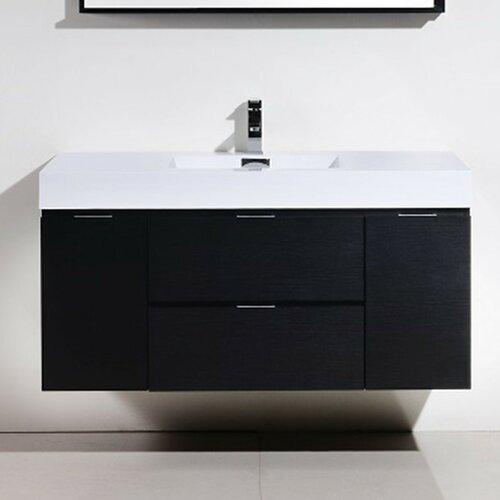 kube bath bliss 48 single wall mount modern bathroom vanity set