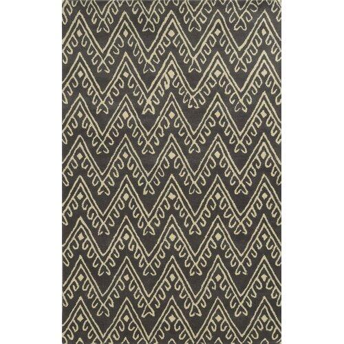 Bilhorod Hand-Tufted Dark Grey Area Rug by Meridian Rugmakers