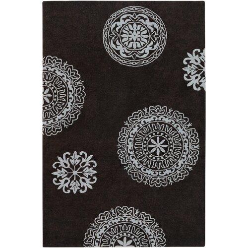 Gadoum Hand-Tufted Dark Grey Area Rug by Threadbind