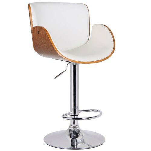 Redmond Adjustable Height Swivel Bar Stool with Cushion by Porthos Home