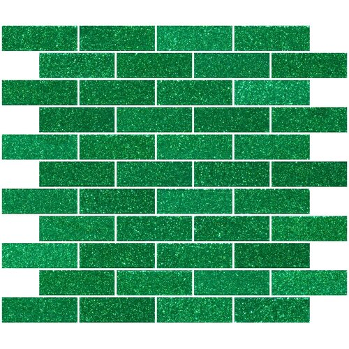 "1"" x 3"" Glass Subway Tile in Emerald Green"